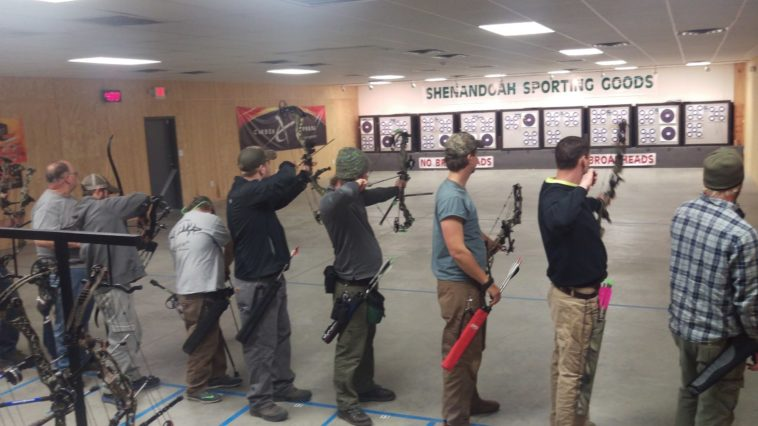 local hunters practice at our indoor archery range in Virginia